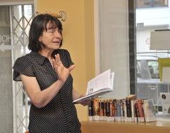 Iva Procházková na besedě s dětskými čtenáři v Městské knihovně v Praze